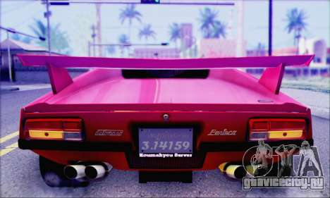 De Tomaso Pantera для GTA San Andreas вид сзади