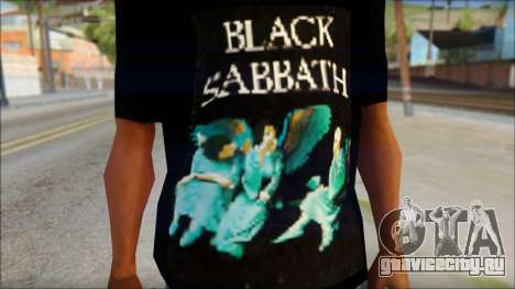 Black Sabbath T-Shirt v1 для GTA San Andreas третий скриншот