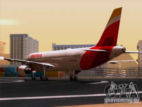 Airbus A320-214 Iberia для GTA San Andreas вид справа