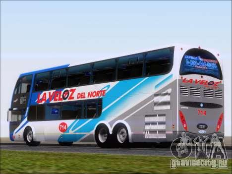Metalsur Starbus DP 1 6x2 - La Veloz del Norte для GTA San Andreas вид сзади слева