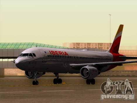 Airbus A320-214 Iberia для GTA San Andreas вид слева
