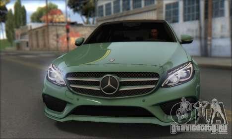 Mercedes-Benz C250 V1.0 2014 для GTA San Andreas вид сзади слева
