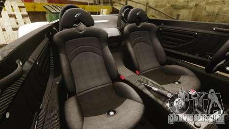 Pagani Zonda C12S Roadster 2001 v1.1 для GTA 4 вид сбоку
