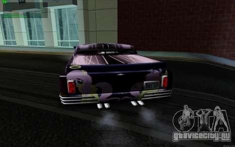 Покрасочная работа для Slamvan MLP Fluttershy для GTA San Andreas вид слева