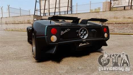 Pagani Zonda C12S Roadster 2001 v1.1 PJ3 для GTA 4 вид сзади слева