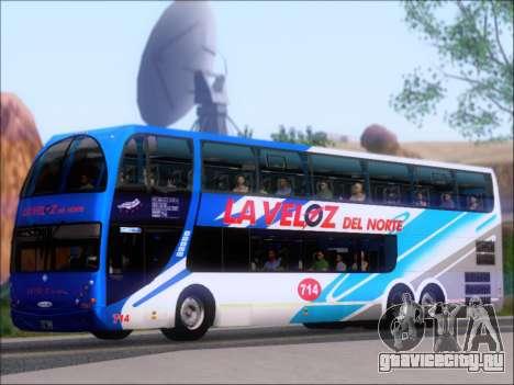 Metalsur Starbus DP 1 6x2 - La Veloz del Norte для GTA San Andreas вид сзади