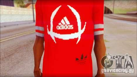 T-Shirt Adidas Red для GTA San Andreas третий скриншот