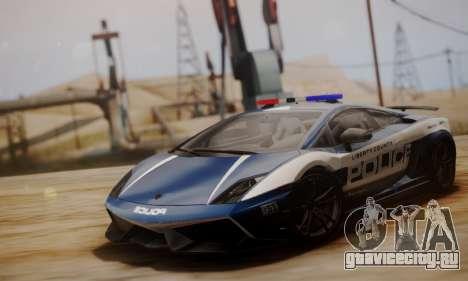 Lamborghini Gallardo LP 570-4 2011 Police v2 для GTA San Andreas вид слева