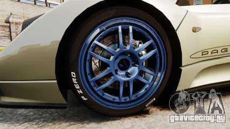 Pagani Zonda C12S Roadster 2001 v1.1 PJ1 для GTA 4 вид сзади