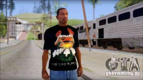 Metallica Master Of Puppets T-Shirt для GTA San Andreas