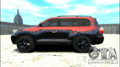 Toyota Land Cruiser 200 2013 для GTA 4 вид слева