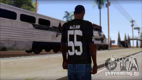 Oakland Raiders 55 McClain Black T-Shirt для GTA San Andreas второй скриншот