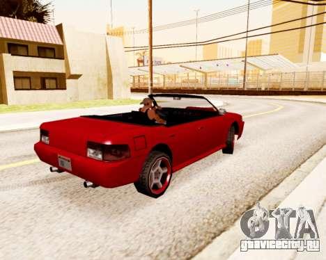 Sultan Кабриолет для GTA San Andreas вид сзади слева