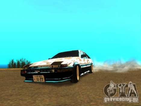 Toyota Corolla AE86 Trueno JDM для GTA San Andreas вид справа