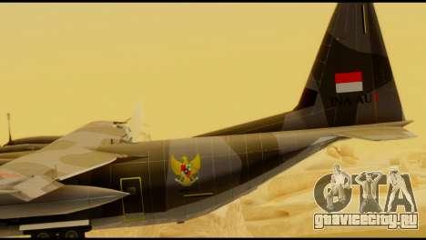 C-130 Hercules Indonesia Air Force для GTA San Andreas вид сзади слева