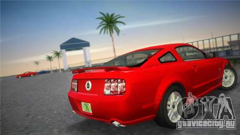 Ford Mustang GT 2005 для GTA Vice City вид сзади слева