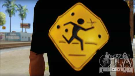 Running With Scissors T-Shirt для GTA San Andreas третий скриншот