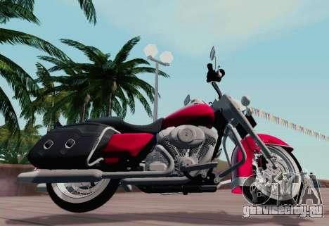 Harley-Davidson Road King Classic 2011 для GTA San Andreas вид слева