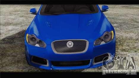 Jaguar XFR v1.0 2011 для GTA San Andreas вид сзади