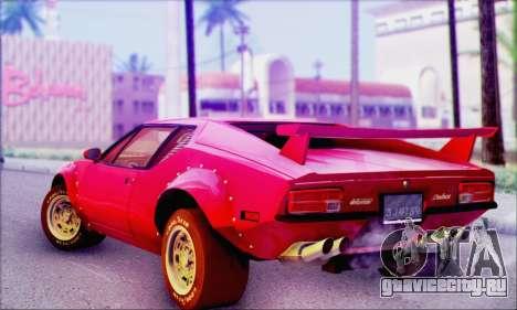 De Tomaso Pantera для GTA San Andreas вид слева