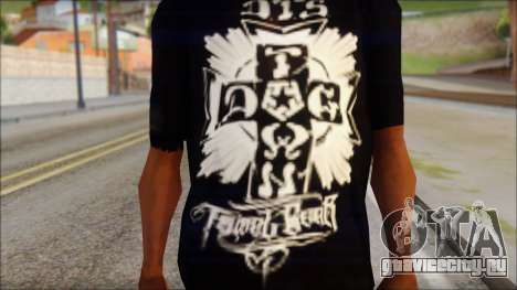 Tribal DOG Town T-Shirt Black для GTA San Andreas третий скриншот