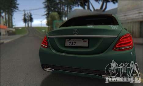 Mercedes-Benz C250 V1.0 2014 для GTA San Andreas вид изнутри