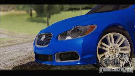 Jaguar XFR v1.0 2011 для GTA San Andreas вид сзади слева