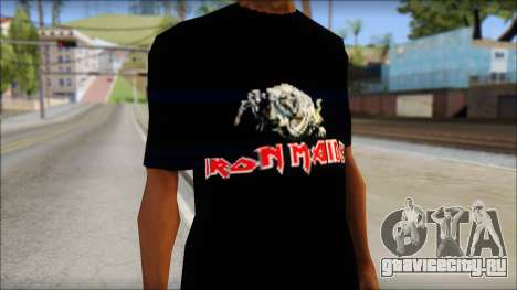 Iron Maiden T-Shirt для GTA San Andreas третий скриншот
