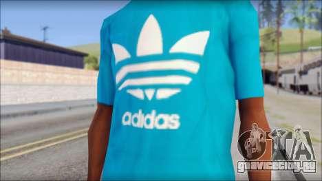Blue Adidas Shirt для GTA San Andreas третий скриншот