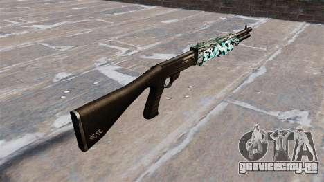 Ружьё Franchi SPAS-12 Aqua Camo для GTA 4 второй скриншот