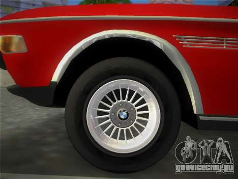 BMW 3.0 CSL 1971 для GTA Vice City вид сзади слева