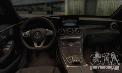 Mercedes-Benz C250 V1.0 2014 для GTA San Andreas вид сверху