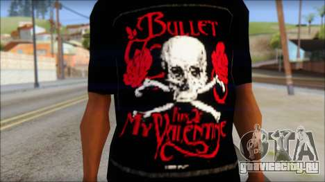 Bullet for my Valentine Fan T-Shirt для GTA San Andreas третий скриншот