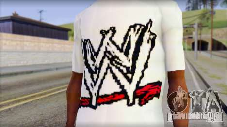 WWE Logo T-Shirt mod v1 для GTA San Andreas третий скриншот