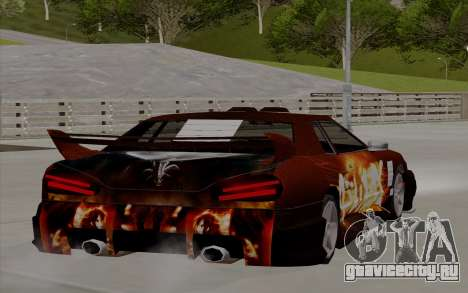 Покрасочная работа Yakuza для Elegy для GTA San Andreas вид слева