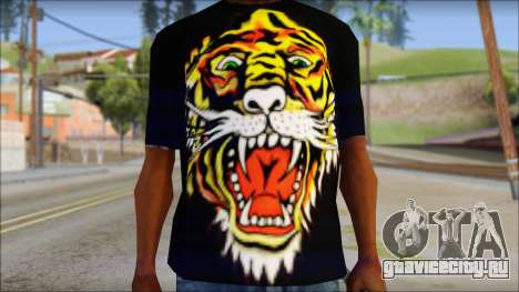 Ed Hardy Lion T-Shirt для GTA San Andreas третий скриншот