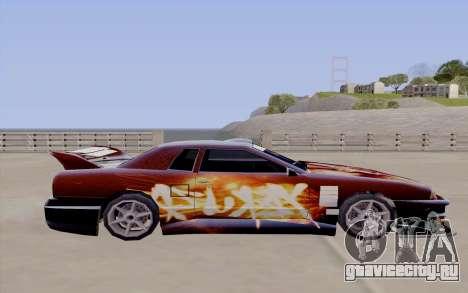 Покрасочная работа Yakuza для Elegy для GTA San Andreas вид сзади