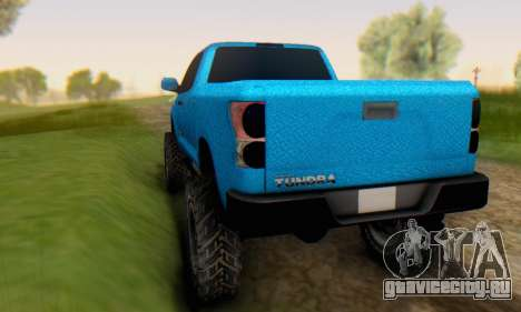 Toyota Tundra OFF Road Tuning Blue Star для GTA San Andreas вид справа