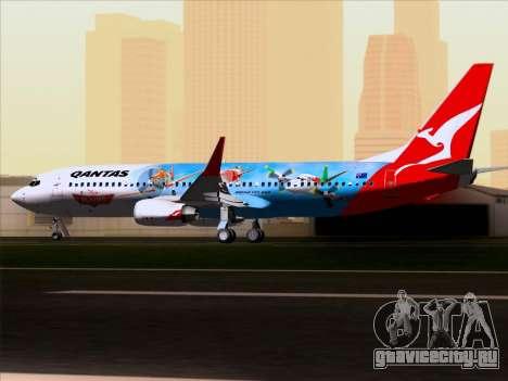 Boeing 737-800 Qantas для GTA San Andreas вид изнутри