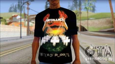 Metallica Master Of Puppets T-Shirt для GTA San Andreas третий скриншот