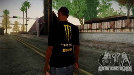 Monster Energy Shirt Black для GTA San Andreas второй скриншот