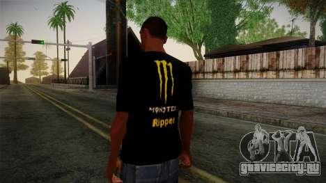 Monster Energy Shirt Black для GTA San Andreas второй скриншот