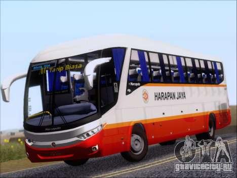 Marcopolo Paradiso 1200 Harapan Jaya для GTA San Andreas вид слева