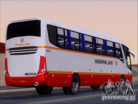 Marcopolo Paradiso 1200 Harapan Jaya для GTA San Andreas вид справа