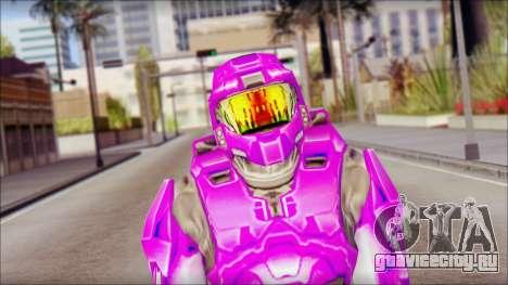 Masterchief Purple from Halo для GTA San Andreas третий скриншот