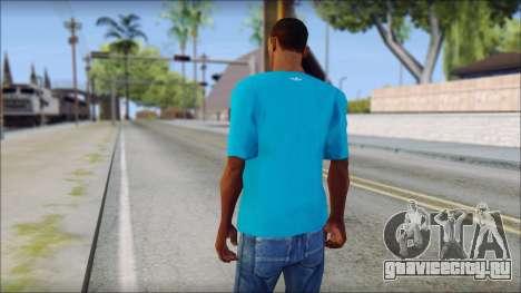 Blue Adidas Shirt для GTA San Andreas второй скриншот