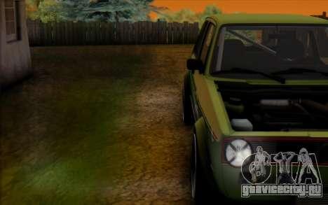 Volkswagen Golf Mk I для GTA San Andreas вид справа