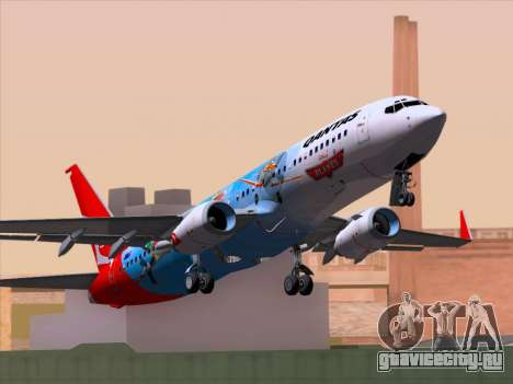 Boeing 737-800 Qantas для GTA San Andreas вид сзади