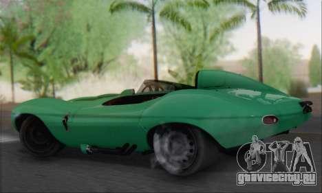 Jaguar D Type 1956 для GTA San Andreas вид слева