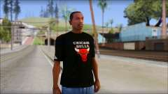Chicago Bulls Black T-Shirt для GTA San Andreas